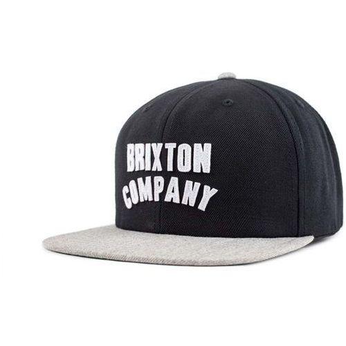 czapka z daszkiem BRIXTON - Woodburn Black/Light Heather Grey (BKLHG) rozmiar: OS, kolor czarny