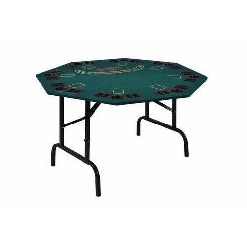 OKAZJA - Składany stół do pokera dla 8 osób z uchwytami na napoje (4025327325632)
