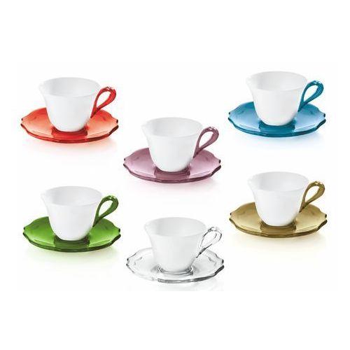 Zestaw 6 filiżanek do espresso belle epoque kolorowy marki Guzzini