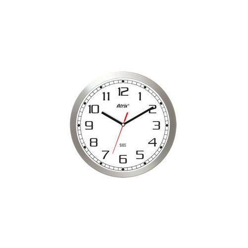 Kwarcowy zegar aluminiowy super cichy /30cm marki Atrix