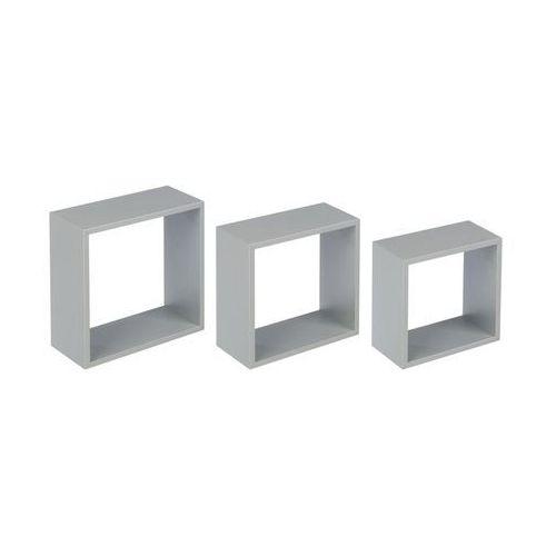 Zestaw 3 półek ściennych 3tc srebrny duraline marki Spaceo