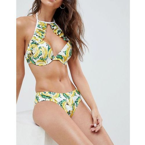 Vero Moda Banana Print Hipster Bikini Bottoms - Multi, bikini