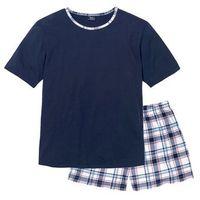 Piżama bonprix ciemnoniebieski w kratę, w 4 rozmiarach