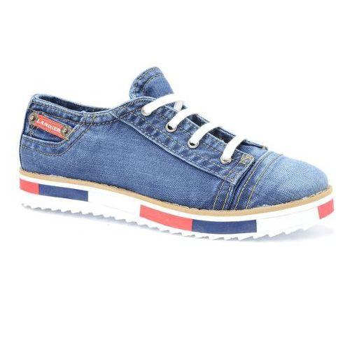 Półbuty Lanqier 40C221 jeans