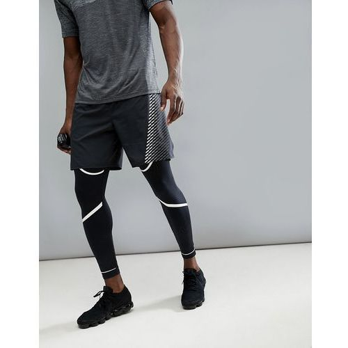 flex challenger 7 inch shorts in black with print 943148-010 - black, Nike running
