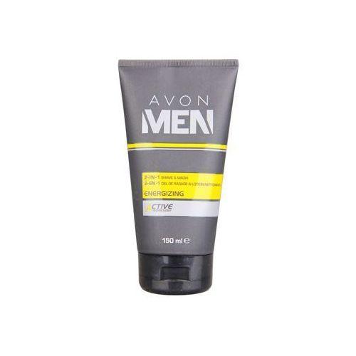 Avon  men energizing żel do golenia i żel oczyszczający 2w1 (2 in1 shave and wash) 150 ml