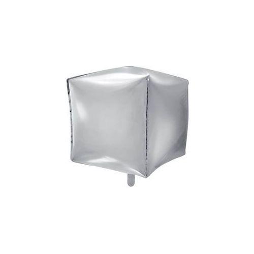 Balon foliowy sześcian srebrny - 35 cm - 1 szt. (5902230788527)