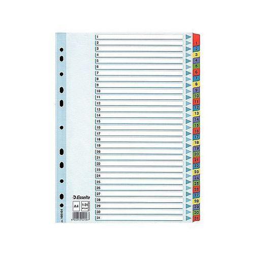Przekładki mylar a4 1-31 białe 100164 marki Esselte