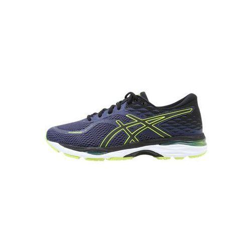 ASICS GELCUMULUS 19 Obuwie do biegania treningowe indigo blue/black/safety yello, T7B3N