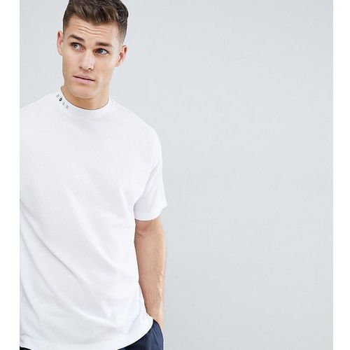 Noak t-shirt with high neck and drop shoulder in white - white