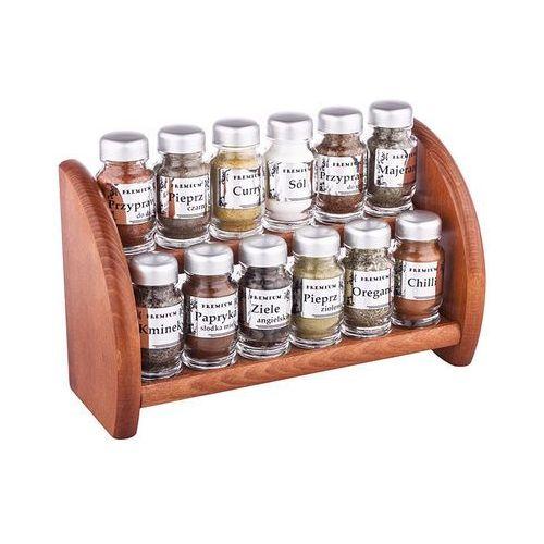 Półka na przyprawy srebro 12 przypraw marki Rękodzieło