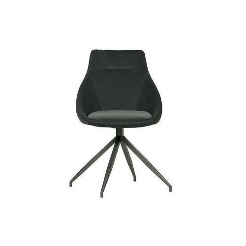 Woood Zestaw 2 krzeseł RESA velvet antracytowe 373793-A (8714713086597)