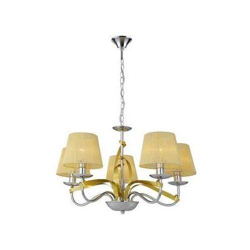 Lampa wisząca zwis żyrandol Candellux Diva 5x40W E14 chrom/miedź 35-55064 (5906714855064)