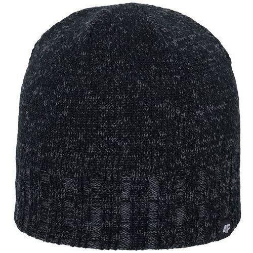 Męska ciepła czapka h4z17 cam008 szary melanż s/m marki 4f