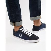 baseline nylon mix trainers in navy - navy marki Fred perry