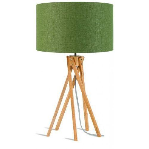 Lampa stołowa Kilimanjaro 5-nożna 34cm/ abażur 32x20cm, lniany zieleń lasu