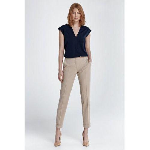 Spodnie z mankietami SD27 Beige, kolor beżowy