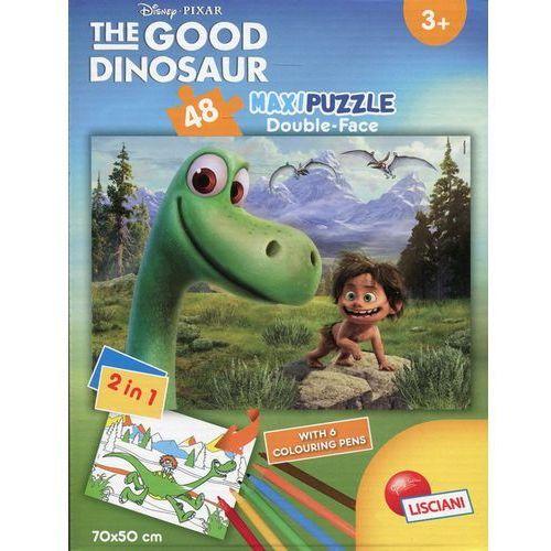 Puzzle dwustronne maxi 48 Dobry dinozaur