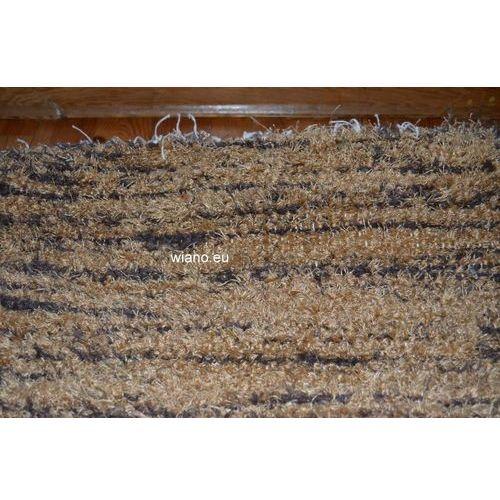Chodnik bawełniany ręcznie tkany jasno-ciemnobrązowy 65x150 (k-7) marki Twórczyni ludowa