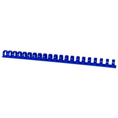 Grzbiety do bindowania OFFICE PRODUCTS, A4, 19mm (165 kartek), 100 szt., niebieskie (5901503684245)