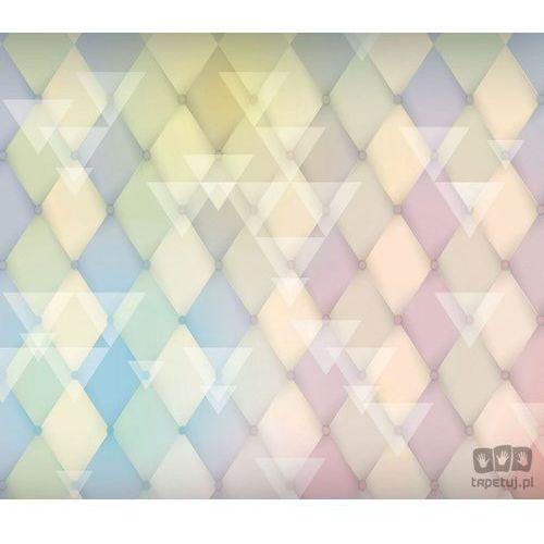 Fototapeta Klasyczne romby i białe trójkąty – wyblakłe pastele 1472