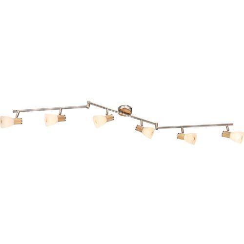 Listwa lampa oprawa sufitowa Globo Gylfi 6x40W E14 satyna 54352-6