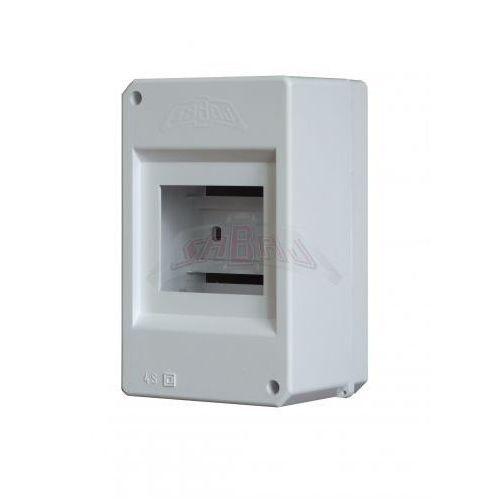 Rozdzielnica plastikowa 4 moduły IP44 87x140x67 Biała ALFA 4S (5907813124082)