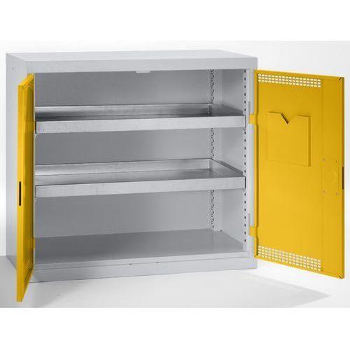 Szafa ekologiczna, drzwi perforowane, wys. x szer. x głęb. 900x1000x500 mm, 2 pó