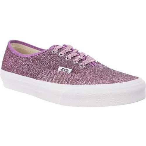 Vans authentic u3u lurex glitter pink true white - buty sneakersy (0190542926736)