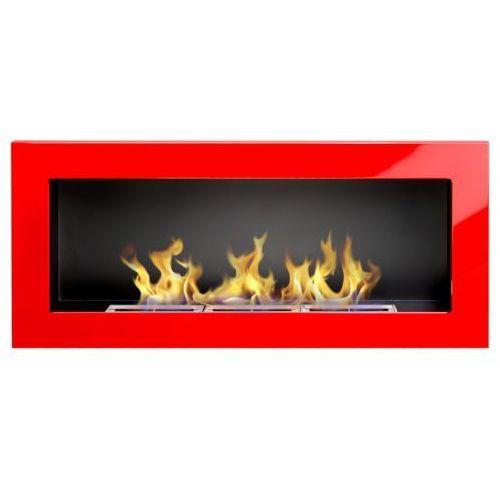 Biokominek 900x400 czerwony połysk + gratis marki Globmetal