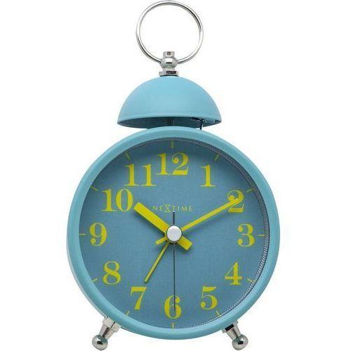 NeXtime - Zegar stojący Single Bell - turkusowy, kolor niebieski