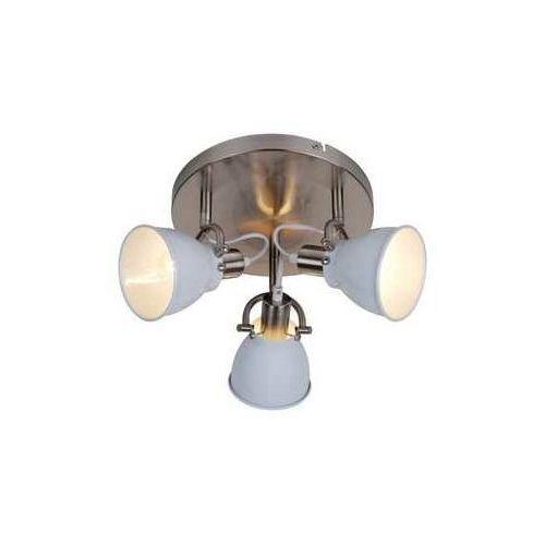 Plafon Zuma Line Pictor RLX94023-3W lampa oprawa sufitowa 3x40W E14 chrom/biały >>> RABATUJEMY do 20% KAŻDE zamówienie, kolor Biały