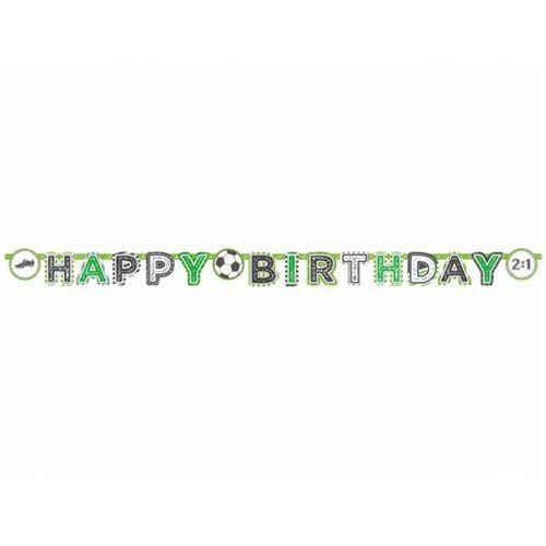 Baner urodzinowy Happy Birthday Kicker Party - 1 szt. (0013051800765)