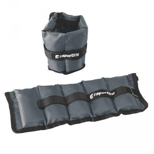 Insportline Regulowane obciążenie na kostki i nadgarstki  grayweight 2x1 kg (8596084036902)