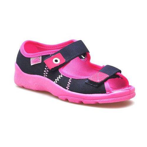 Sandały dziecięce Befado 969X105 Granat/Różowe