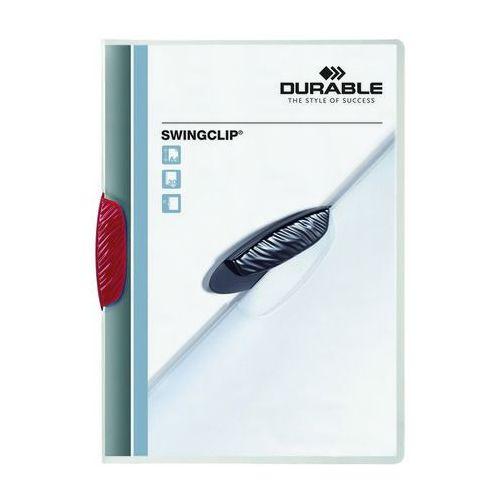 Skoroszyt zaciskowy swingclip czerwony a4/30k. marki Durable