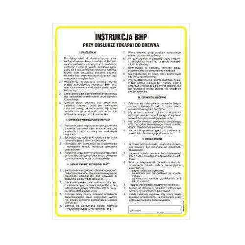 OKAZJA - Instrukcja bhp przy obsłudze tokarki do drewna marki Top design