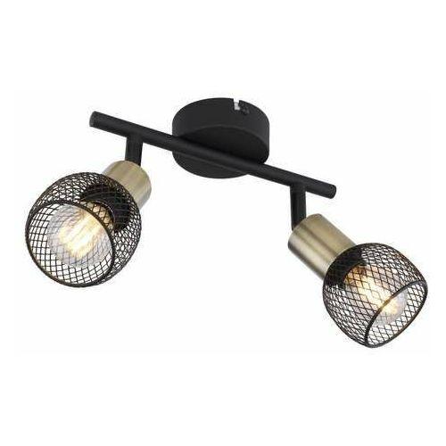 Globo Fiastra 54028-2 plafon lampa sufitowa spot 2x40W E14 czarny/mosiądz