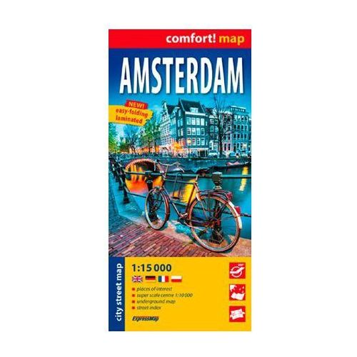 Amsterdam laminowany plan miasta 1:15 000 (2015) - OKAZJE