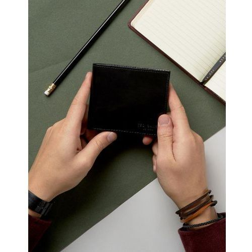 Ted Baker Wallet in Leather with Printed Internal - Black