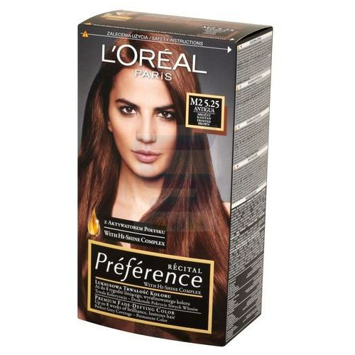 Loreal paris recital preference farba do włosów antigua mroźny kasztan nr m2 5.25 od producenta L´oreal paris