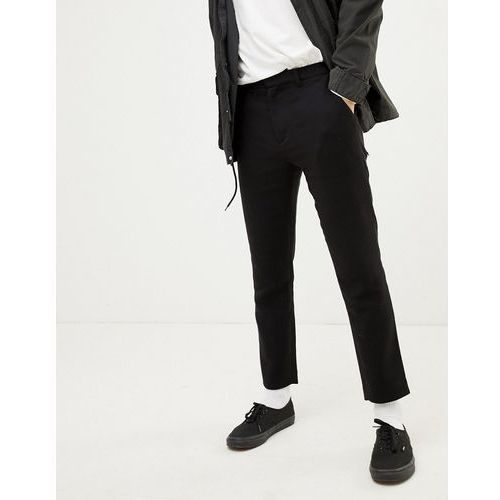 Weekday arvid tapered trousers in black - grey