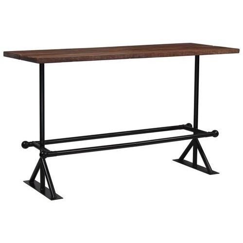 Stół barowy, lite drewno z odzysku, ciemny brąz, 180x70x107 cm marki Vidaxl