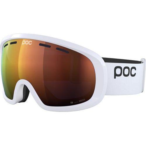 POC Fovea Mid Clarity Gogle, hydrogen white/spektris orange 2019 Gogle narciarskie