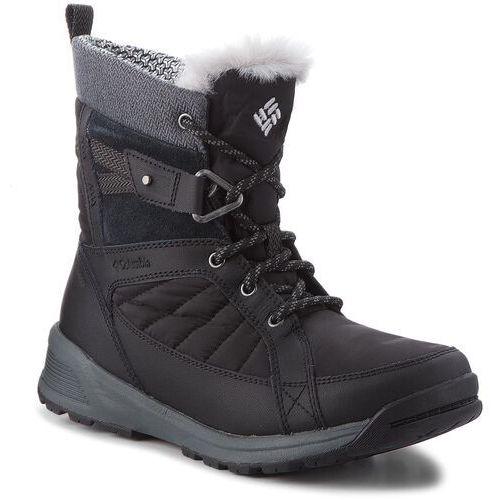 Śniegowce COLUMBIA - Meadows Shorty Omni-Heat 3D BL5966 Black/Steam 010, kolor czarny