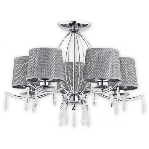 Lemir agila o2485 w5 ch plafon lampa sufitowa żyrandol 5x60w e27 chrom / srebrny (5902082866305)