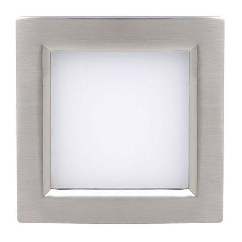 Oczko lampa sufitowa hl685l 02128 podtynkowa oprawa metalowa led 12w kwadratowy wpust satyna marki Ideus