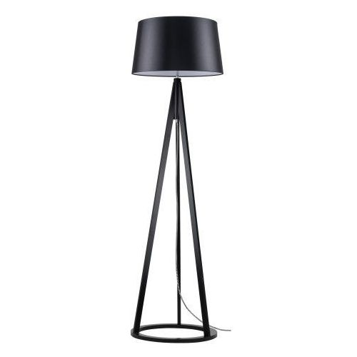 Lampa podłogowa Konan czarny/czarny- biały/czarny E27 60W, kolor czarny/czarno-biały/czarny