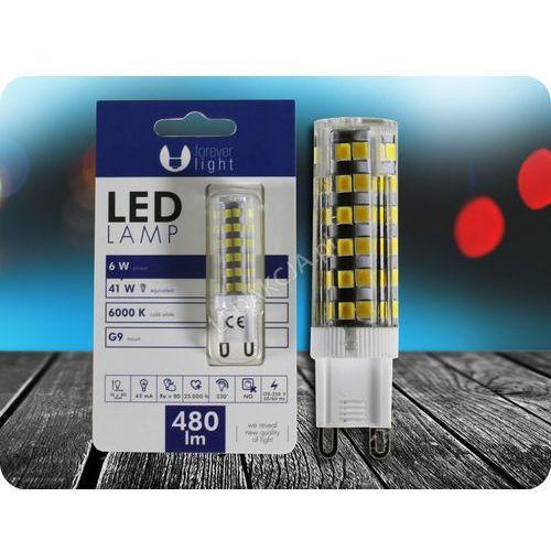 Forever light G9 led żarówka 6w (480lm) + bezpłatna natychmiastowa gwarancja wymiany! zimna biała 6000k