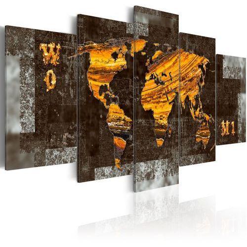 Obraz - ukryte skarby (mapa świata) marki Artgeist